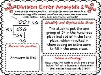 Long Division Error Analysis