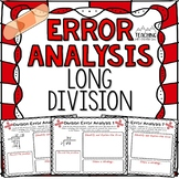 Long Division Error Analysis