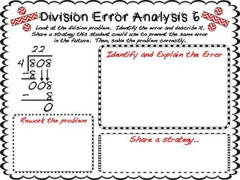 Long Division Error Analysis By Teaching With A Mountain