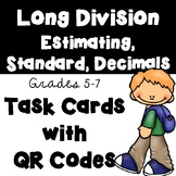 Long Division: Estimating, Standard Algorithm, and Decimals (Optional QR Codes)