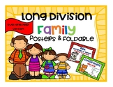 Long Division Family Dual Language Version Posters and Foldable