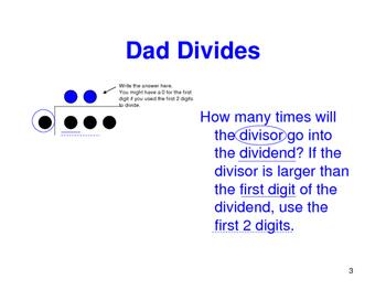 Long Division Family Steps