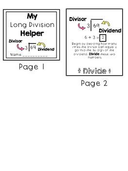 Dollar Deal Long Division Flap Booklet