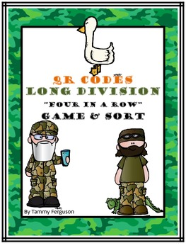 """Long Division """"Four In A Row"""" Game & Sort (with & without"""