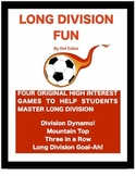 Long Division Fun!  4 Original Partner Games for 4th - 6th Grade