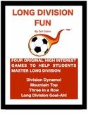 Long Division Fun!  4 Original Partner Games for 4th - 6th Grade