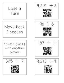 Long Division Board Game