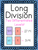 Long Division Game - Two Differentiated Levels - WITH REMAINDERS!!!