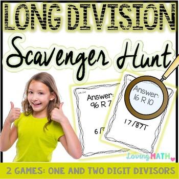 Long Division Scavenger Hunt Games