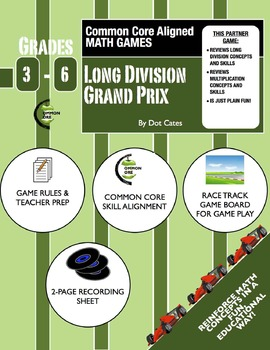 Common Core Aligned Math Games: Long Division Grand Prix! Racing Game - Gr. 3-6
