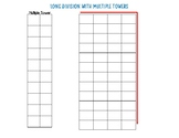 Long Division Graphic Organizer