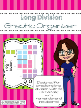 Long Division Graphic Organizer and Task Cards