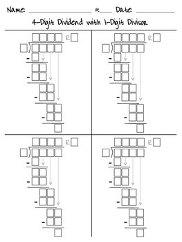 Long Division Guide Boxes