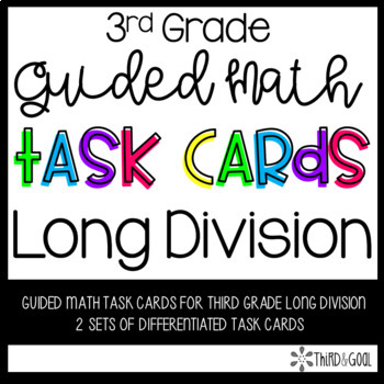 Long Division Guided Math Task Cards