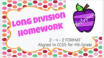 Long Division Homework (Chapter 4)