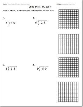 Division with an Area Model:  Teaching Division on a Grid