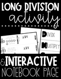 Long Division Interactive Notebook Page