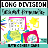 Long Division Word Problems Game - Interpreting Remainders