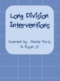 Long Division Interventions Worksheets