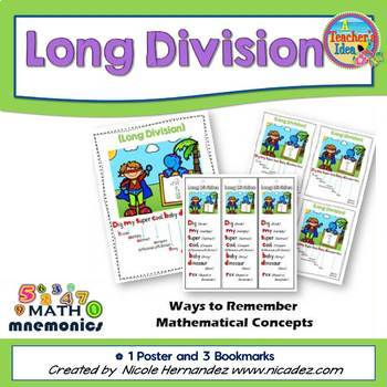 Long Division Posters - Easy Mnemonics 1