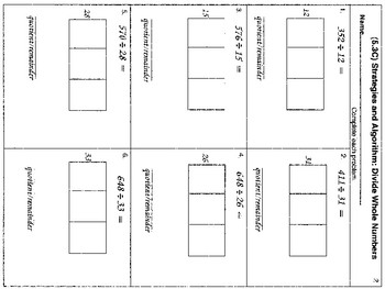 4th, 5th and 6th: Non-Traditional Long Division (Animated & Worksheets)