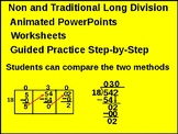 4th & 5th : Non-Traditional Long Division Box Method (Animated) & Worksheets