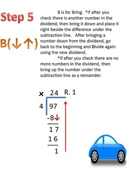 Long Division Step by Step Instructions and Printables!