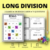 Long Division Math Bingo Review Game