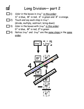 Long Division Math Center and Homework