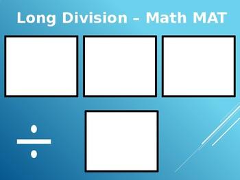 Long Division Math Mat