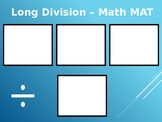 Long Division Math Mat