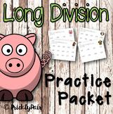 Long Division Math Worksheet Package