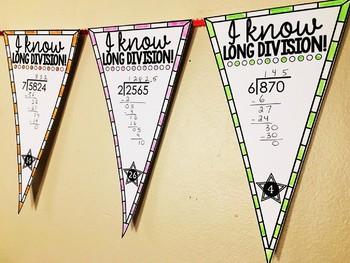 Long Division Math Pennant