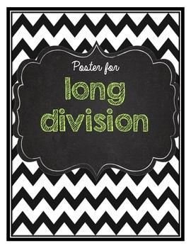 Long Division Math Poster- Does McDonalds Serve Burgers?