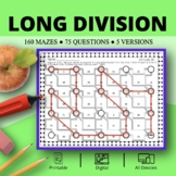 Long Division Maze Activity Sets - Distance Learning Compatible