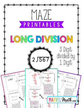 Long Division Maze Printable by Marvel Math