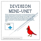 Division Mini-unit with Long Division, Estimation, and Wor