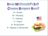 Long Division Mnemonic - Handout or Poster
