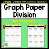 Long Division On Graph Paper with 3 Digits by 2 Digits