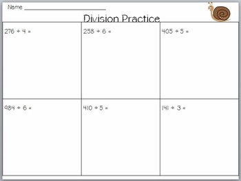 Long Division Pack