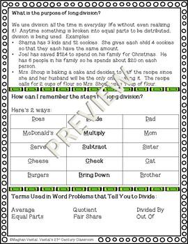 Long Division Parent Study Guide