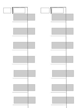 Long Division Partial Quotient Graphic Organizer