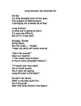 Long Division Poem