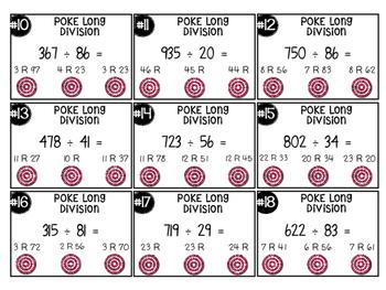 Long Division Poke Activity! COMMON CORE ALIGNED 5.NBT.6