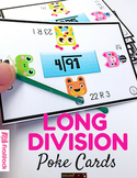 Long Division Poke Cards