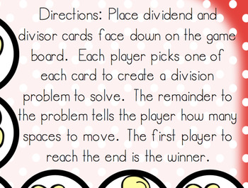 Long Division: Popcorn Division Board Game! DIFFERENTIATED