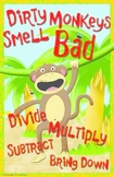 Long Division Poster - Dirty Monkeys Smell Bad (version 2)
