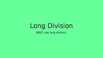 Long Division Powerpoint and Activities