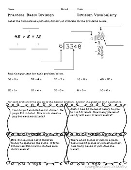 Long Division Practice: Homework or Worksheets