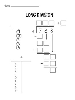 Long Division Practice